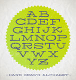 Hand drawn fonts Royalty Free Stock Photos