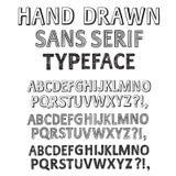 Hand drawn  fonts set Stock Photo