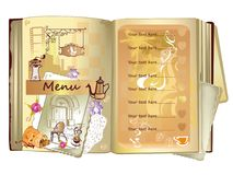 Hand drawn food illustrations for  restaurant or cafe menu. Stock Photography