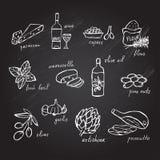 Hand drawn food ingredients Royalty Free Stock Image