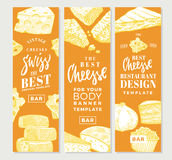 Hand Drawn Food Products Vertical Banners Royalty Free Stock Photos