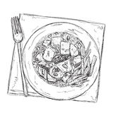 Hand drawn food sketch Royalty Free Stock Photo