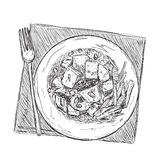 Hand drawn food sketch Stock Photo