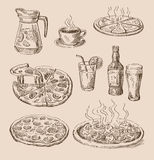 Hand drawn food sketch Stock Photography