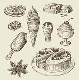 Hand drawn food sketch Royalty Free Stock Photos