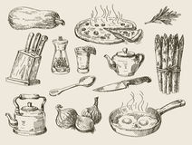 Hand drawn food sketch Stock Image