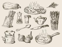 Hand drawn food sketch Stock Image