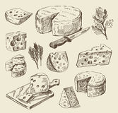 Hand drawn food sketch stock illustration