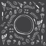 Hand drawn forest pattern Stock Photo
