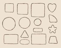Hand drawn form elements. Vetor illustration stock illustration