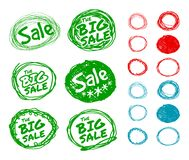 Hand-drawn forms for sale stickers Stock Photography