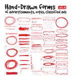 Hand-drawn forms Royalty Free Stock Images