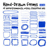 Hand-drawn forms Stock Images