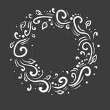 Hand drawn frame. Cartoon vector round border. Pencil effect shape Royalty Free Stock Image