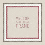 Hand drawn frame Stock Images