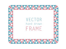 Hand drawn frame Stock Photography