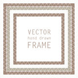 Hand drawn frame Royalty Free Stock Photography