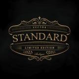 Hand drawn frame vintage label blackboard antique western banner. Vector illustration Stock Photography