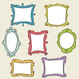 Hand drawn frames. Vector illustration Stock Photography