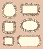 Hand drawn frames. Illustration Royalty Free Stock Photos