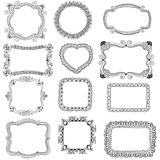 hand-drawn frames Royalty Free Stock Images