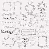 Hand drawn frames Stock Image