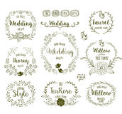 Hand Drawn frames. Hand Drawn floral frames in rustic style for any occasion, vector illustration Royalty Free Stock Image