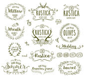 Hand Drawn frames. Hand Drawn floral frames in rustic style for any occasion, vector illustration Royalty Free Stock Images