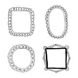 Hand drawn frames set Stock Photography