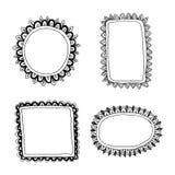 Hand drawn frames set Royalty Free Stock Photos