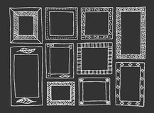 Hand-drawn frames Royalty Free Stock Photos