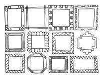 Hand-drawn frames Stock Photos