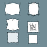 Hand drawn frames, Vector Royalty Free Stock Photo
