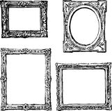 Hand drawn frames stock illustration