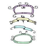 Hand drawn frames vector set Royalty Free Stock Photo