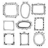 Hand drawn frames. Vintage photo frames Stock Image