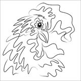 Hand drawn free style sketch of rooster Stock Image