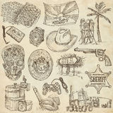 An hand drawn, freehand drawing, collection - Objects Royalty Free Stock Photography