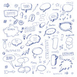 Hand drawn freestyle doodles Stock Image