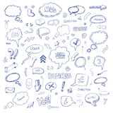 Hand drawn freestyle doodles Royalty Free Stock Photo