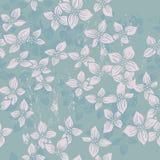 Hand drawn  fresh flowers seamless pattern Stock Photography