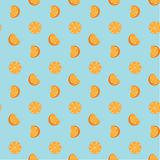 Hand drawn fresh oranges seamless pattern. Doodle wallpaper vector. Fresh fruits collection. Vector illustration stock illustration