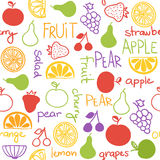 Hand drawn fruit seamless pattern Royalty Free Stock Image
