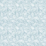 Hand drawn funky style seamless pattern. Royalty Free Stock Photography