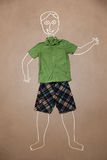 Hand drawn funny character in casual clothes Royalty Free Stock Photo