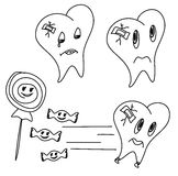 Hand drawn funny teeth Royalty Free Stock Photo