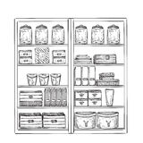 Hand drawn furniture sketch Royalty Free Stock Images