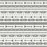 Hand drawn geometric ethnic seamless pattern Stock Images