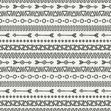 Hand drawn geometric ethnic seamless pattern Royalty Free Stock Image