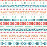 Hand drawn geometric ethnic seamless pattern Royalty Free Stock Images